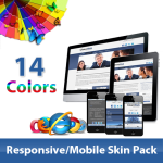 Great Value*14 Color Mobile Skin Pack_60071.05_Any Business**6+ Slider Style+4 Modules